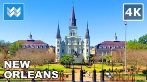 [4K] French Quarter in New Orleans, Louisiana USA – Virtual Treadmill Walking Tour & Travel Guide 🎧