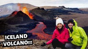 HIKING TO THE ICELAND VOLCANO // Iceland Vlog // Europe Travel 2021