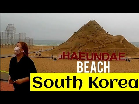 haeundae beach south  korea travel video کوریا
