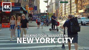 [4K] NEW YORK CITY – Midtown Manhattan, 5th Avenue, 14th Street and 6th Avenue, Sunday, Travel, NYC