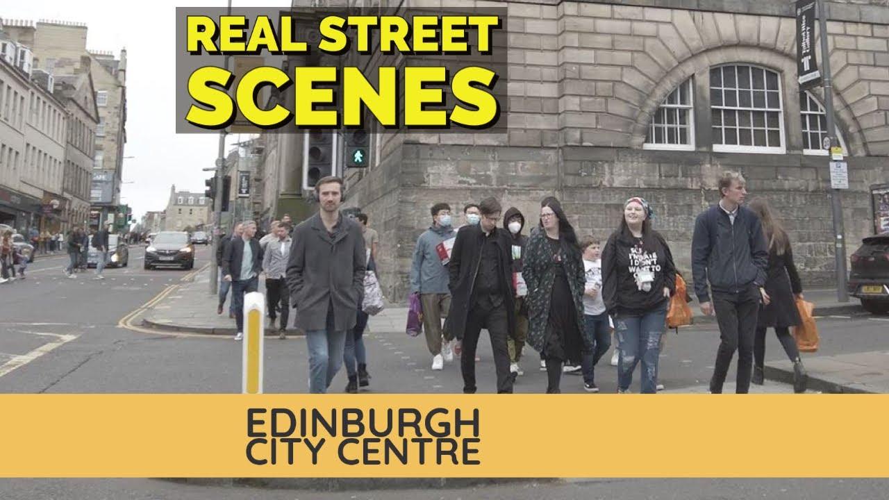 [4K] Real Street Scenes – Princes Street To Clerk Street Newington | Walking Tour Edinburgh
